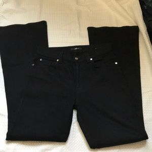 7 FOR ALL MANKIND DENIM JEANS FLARE BLACK SIZE 31